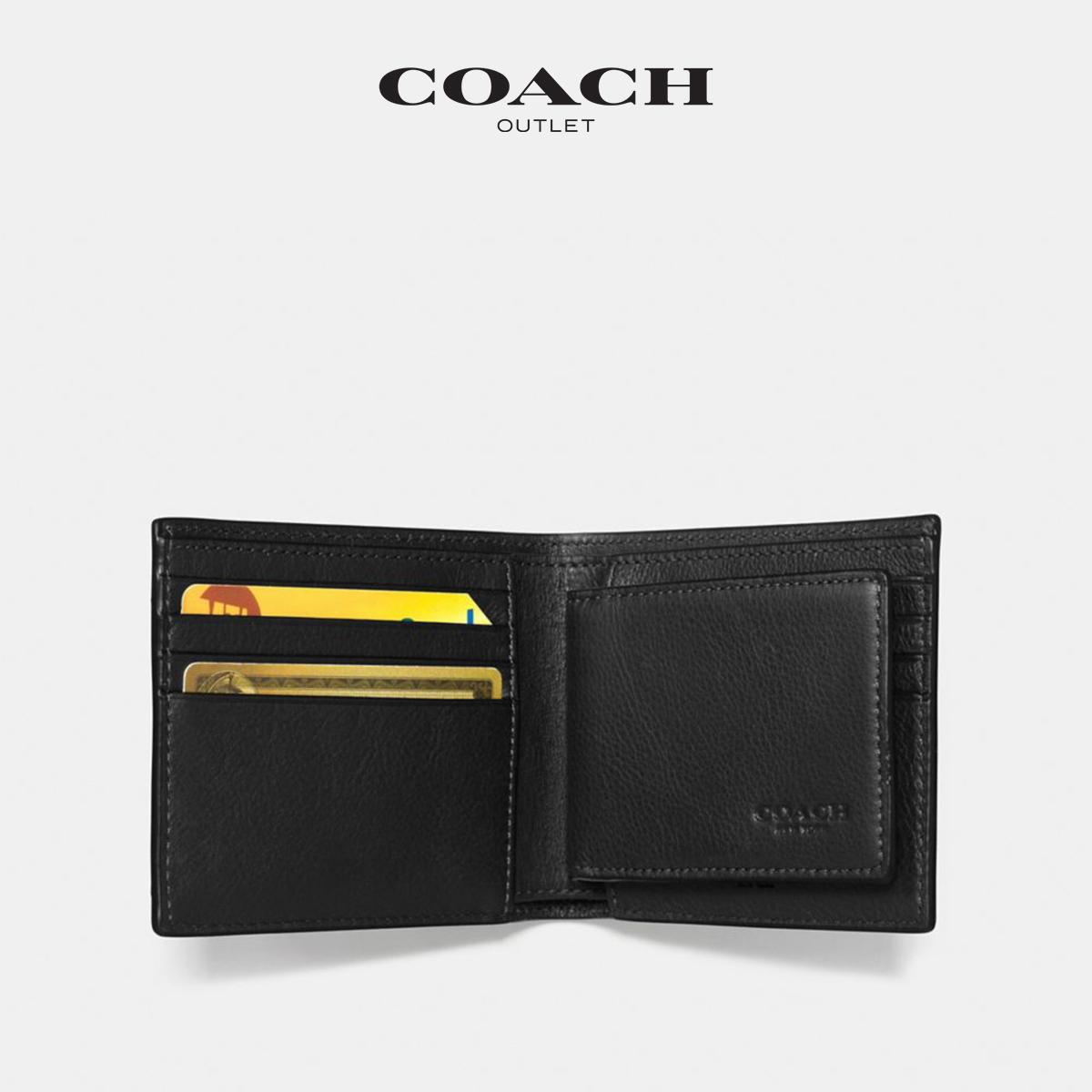 蔻驰奥莱男钱包紧凑型证件钱包 COACH
