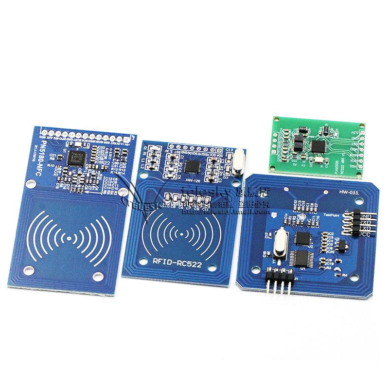 MFRC-522 RC522 RFID射频 IC卡感应模块 送S50复旦卡PN532 PN5180