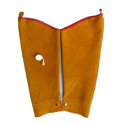 正品牛皮套袖电焊防火花隔热套袖防火袖套电焊防护服焊工服电焊工 mini 1