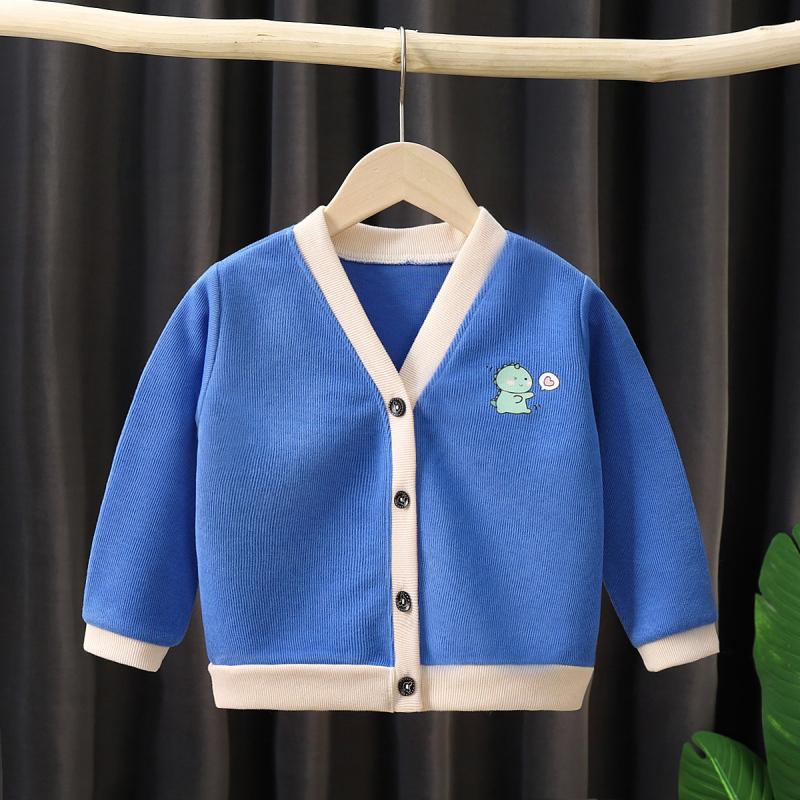 新款儿童外套婴幼儿童装单上衣男童卡通韩版外衣女童洋气针织开衫