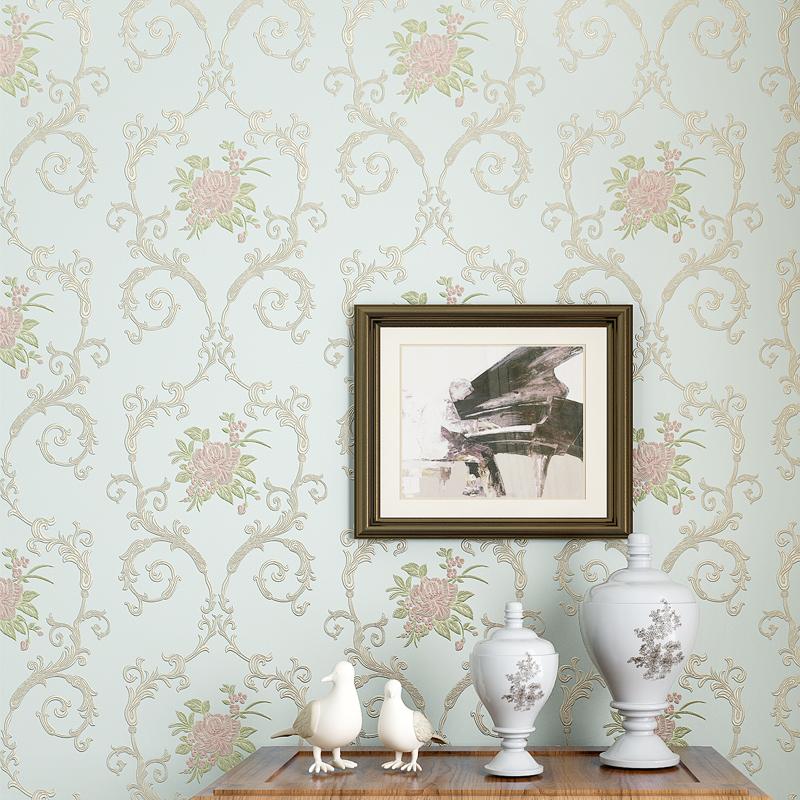 背景墙壁纸 3D 立体墙纸欧式客厅 3d 卧室温馨 精压田园自粘防水墙纸