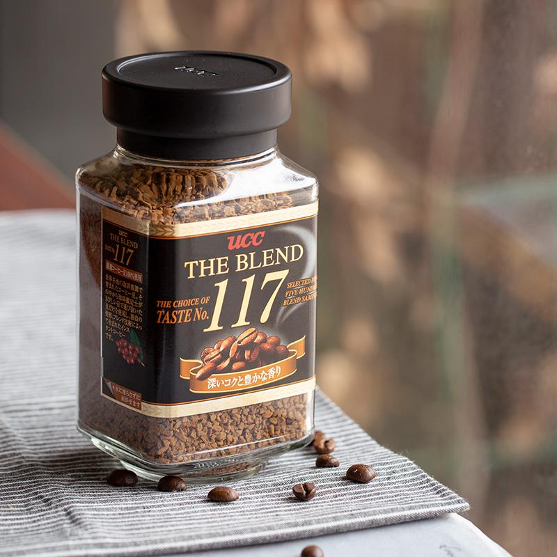 日本原装进口 90gx2瓶 UCC 悠诗诗 117冻干咖啡