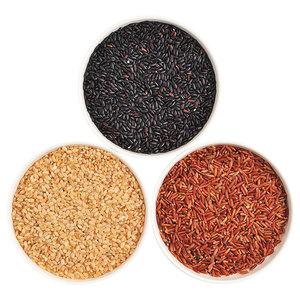 辽峰小镇 三色糙米新米拍5斤五谷杂粮红米黑米糙米糊粗粮健身500g