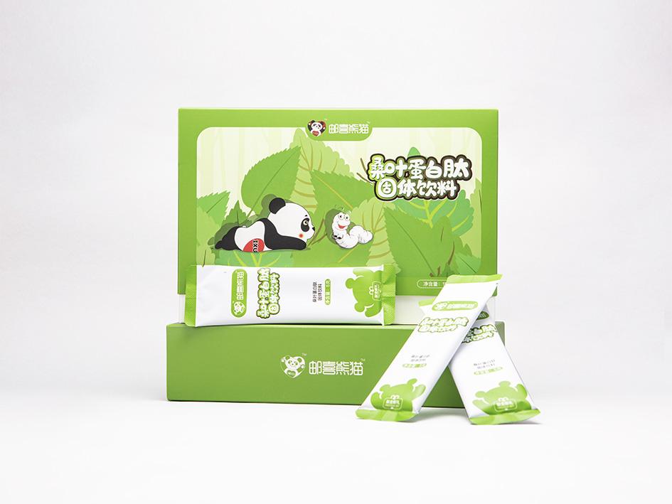 邮喜熊猫桑叶蛋白肽固体饮料纯植物蛋白小分子肽粉