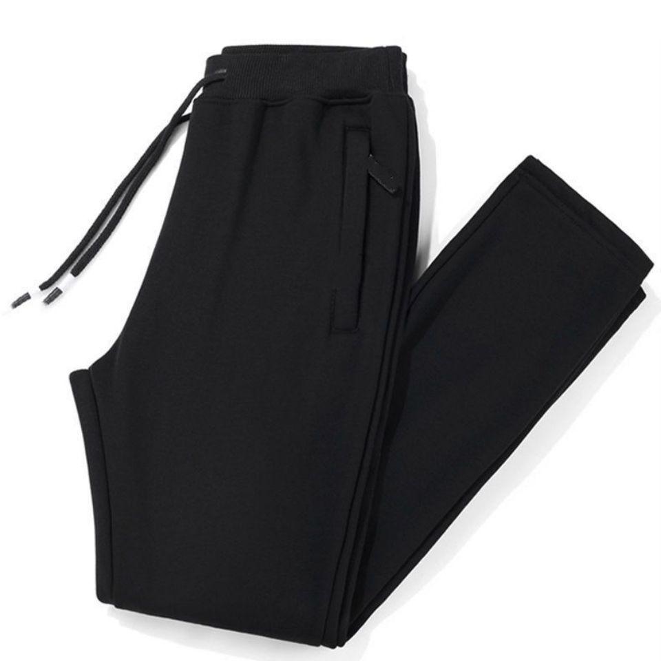 加厚秋季裤子男新款休闲裤男士宽松大码运动裤中年直筒长裤男