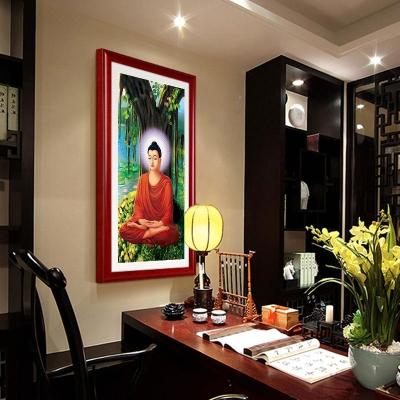 卷轴画佛菩提树下释迦摩尼如来佛祖佛像挂画阿弥陀佛画像开光包。 mini 3