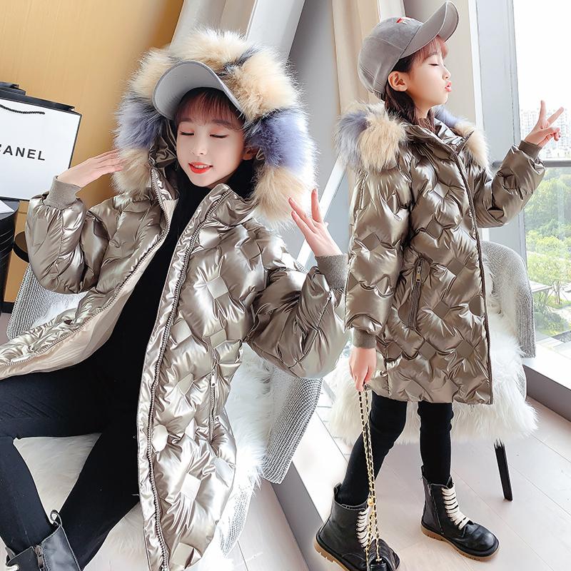 冬季儿童中长款棉衣洋气中大童冬装棉袄