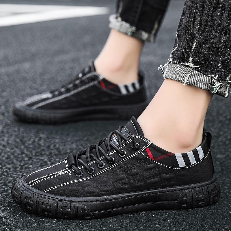 帆布男鞋2021年新款夏季防臭防滑休闲板鞋冰丝透气老北京布鞋潮鞋