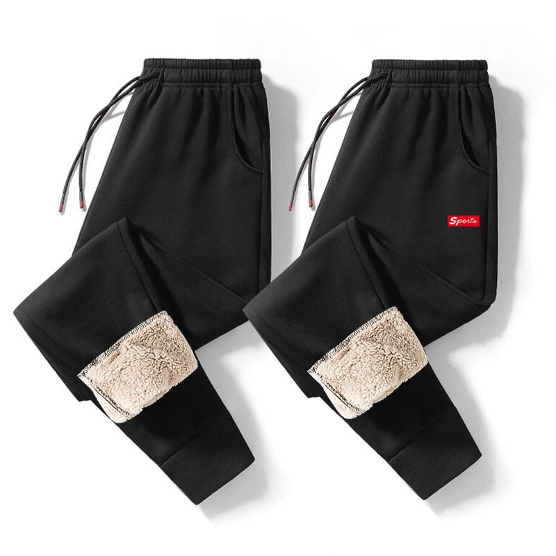 男士羊羔绒休闲运动裤小脚裤棉裤束脚裤男裤