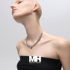 MonsterHarmony original design new clavicle chain light luxury simple niche personality temperament spine necklace