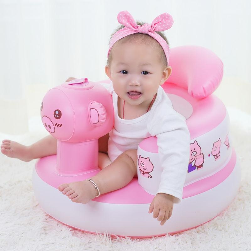 儿童沙发婴儿玩具充气宝宝餐椅学坐椅小板凳子家用靠背椅。
