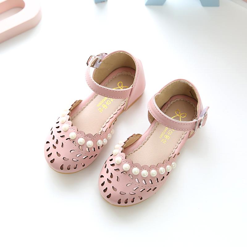 2017儿童凉鞋女夏0-1-2-3岁 公主鞋小学生包头女童凉鞋宝宝镂空鞋