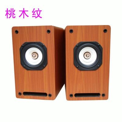 4寸莞音无源音箱木质迷宫全频喇叭胆机发烧功放音响2.0环绕后置