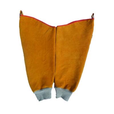 正品牛皮套袖电焊防火花隔热套袖防火袖套电焊防护服焊工服电焊工 mini 2