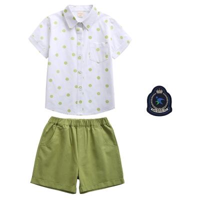 短袖领校服波小学生绿色男夏季点服园套装女童裙子衬衫娃娃幼儿园