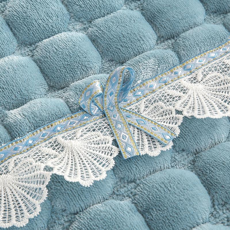 毛绒沙发垫坐垫加厚冬季防滑欧式简约现代全盖包法兰绒沙发套罩巾