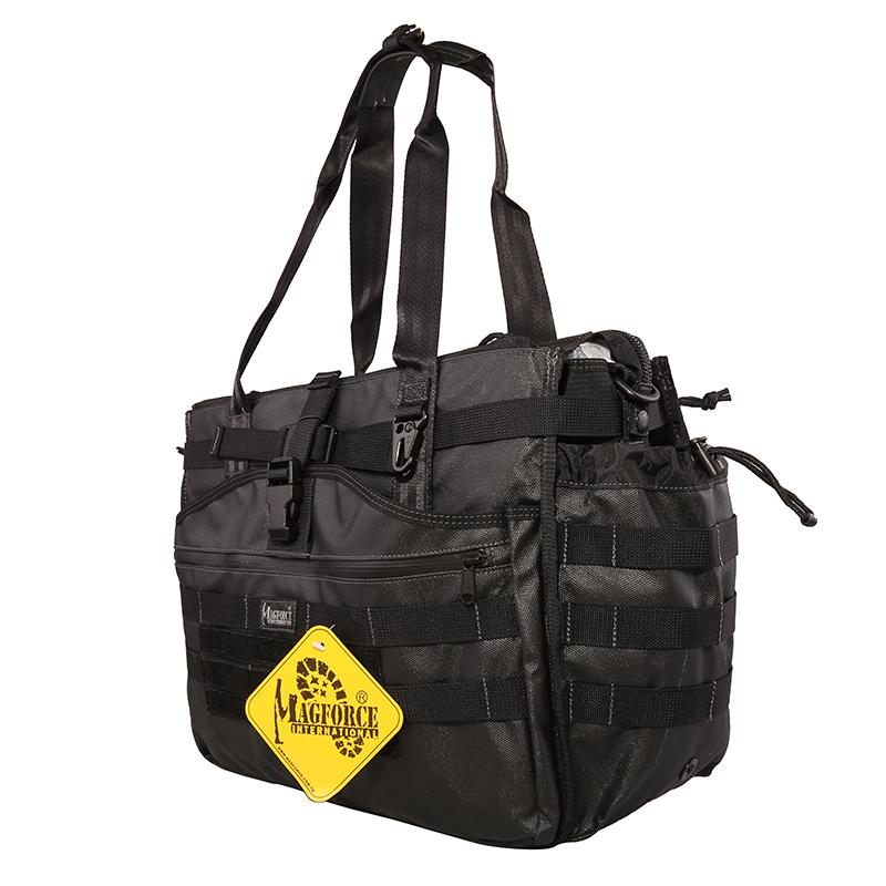 麦格霍斯magforce台马0482战术托特包单肩电脑包拎包男黑色挎包