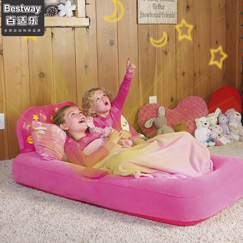 Bestway充氣床墊 兒童家用床墊 寶寶戶外充氣床加厚爬行墊