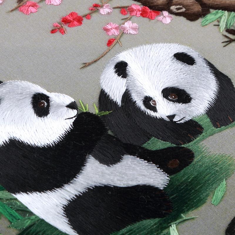 苏绣团扇中国特色送老外礼物中国风礼品蜀绣手工刺绣双面绣扇子