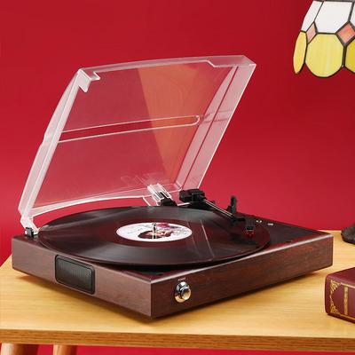 摩范 留声机仿古复古Lp黑胶唱片机老式电唱机PC刻录家用客厅 欧式 - 图2