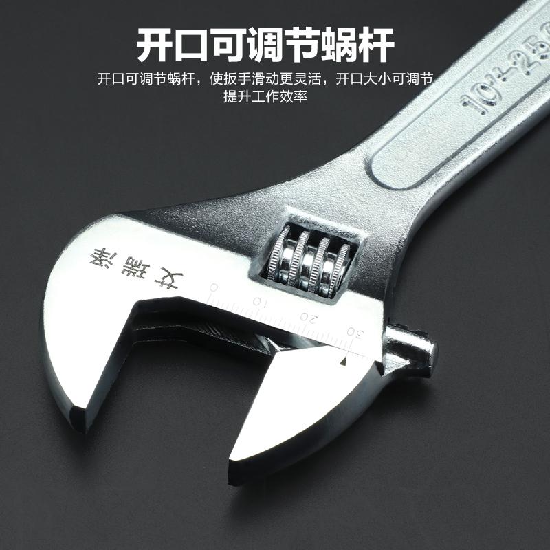 活动扳手工具活口板子贪嘴板手大多功能开口扳手小自紧管钳子套装