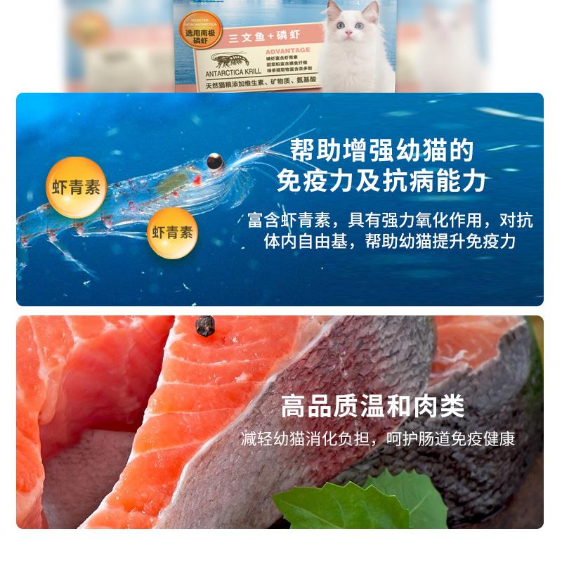 麦富迪猫粮幼猫增肥发腮英短蓝猫天然粮1.5KG装三文鱼磷虾美毛粮优惠券