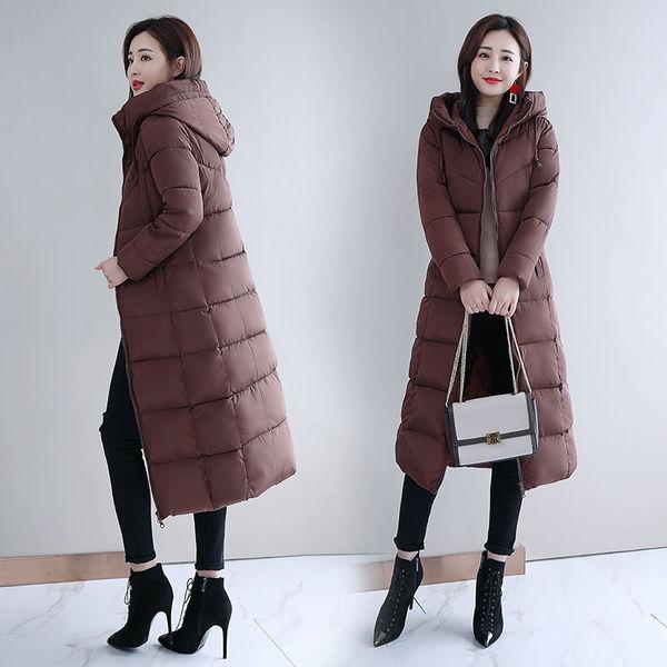 棉袄女2020新款反季棉服冬季外套女羽绒棉加厚冬装长款棉衣长过膝