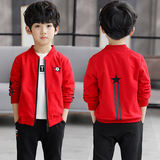 Boys jacket spring and autumn children's clothing 2019 new Korean version of the big children's autumn thin section baseball uniform jacket tide