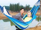 Outdoor leisure hammock hammock single double thick canvas children student dormitory bedroom camping swing