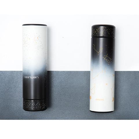 夜光保温杯男女士高档便携304不锈钢水杯学生创意个性杯子ins简约