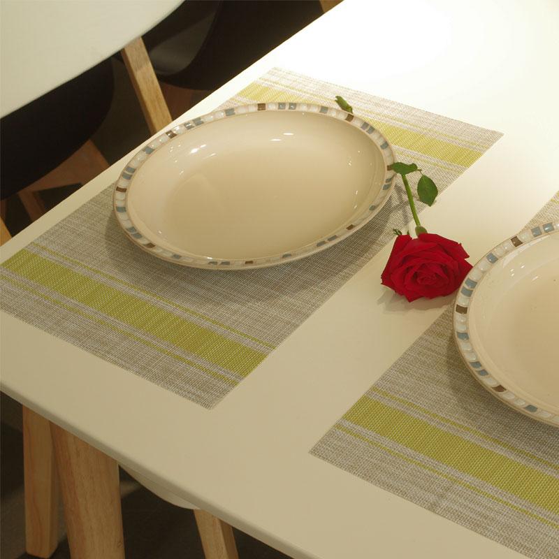 仿亚麻西餐垫 欧式隔热垫 餐桌垫学生餐垫儿童餐垫盘垫碗垫可水洗