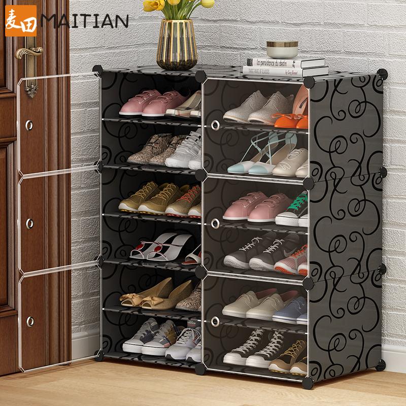 简易鞋柜收纳大容量学生宿舍神器家用放门口鞋架子多层防尘经济型