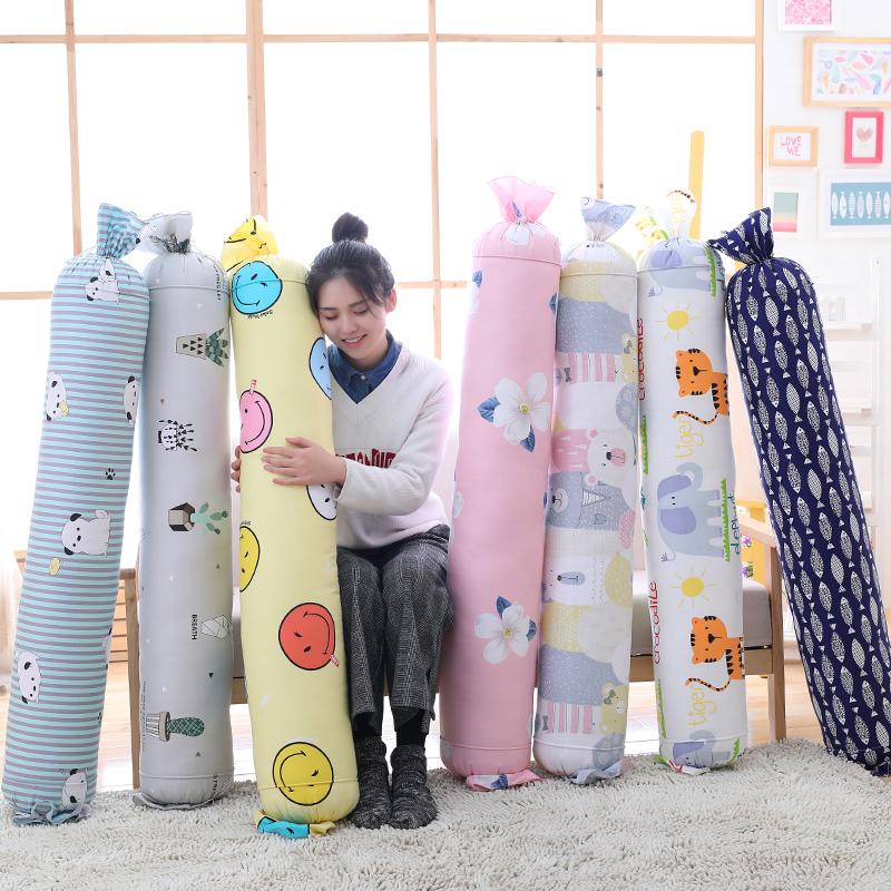 糖果長型圓柱枕頭抱枕全棉大號卡通可愛圓形長條芯腰枕靠墊可拆洗