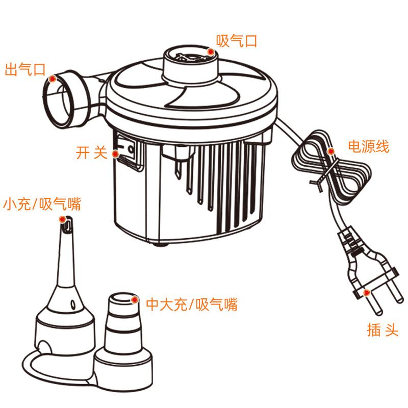 诺澳 婴儿游泳池两用电泵 充气泵 快速 电动充气泵 抽吸气泵