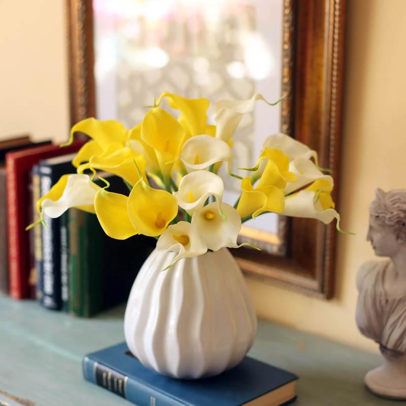 手感保湿马蹄莲仿真花束客厅装饰摆件设绢假花艺 顾客们说太美了