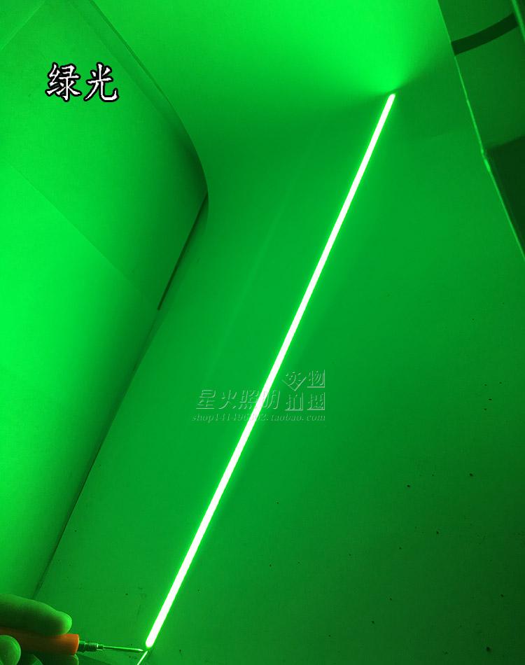 包邮12V长条形led光源cob硬灯条400mm600mm一米长高亮橱柜灯光源