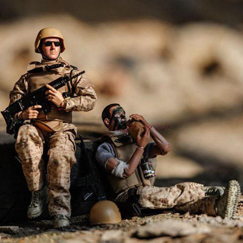 冠达男儿童玩具1/6兵人模型军事套装含武器装备 吃鸡游戏公仔手办