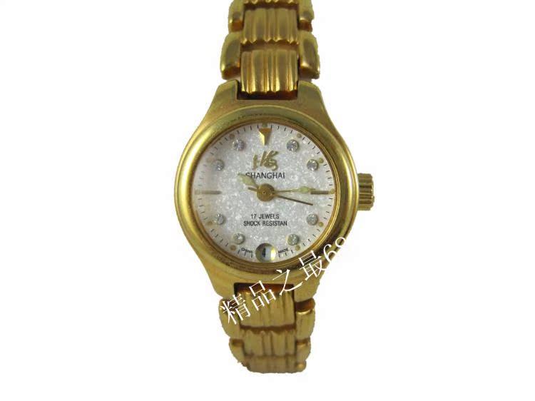 国产手表机械小女表单日历镀金壳手链表机械腕表手动上弦复古经典