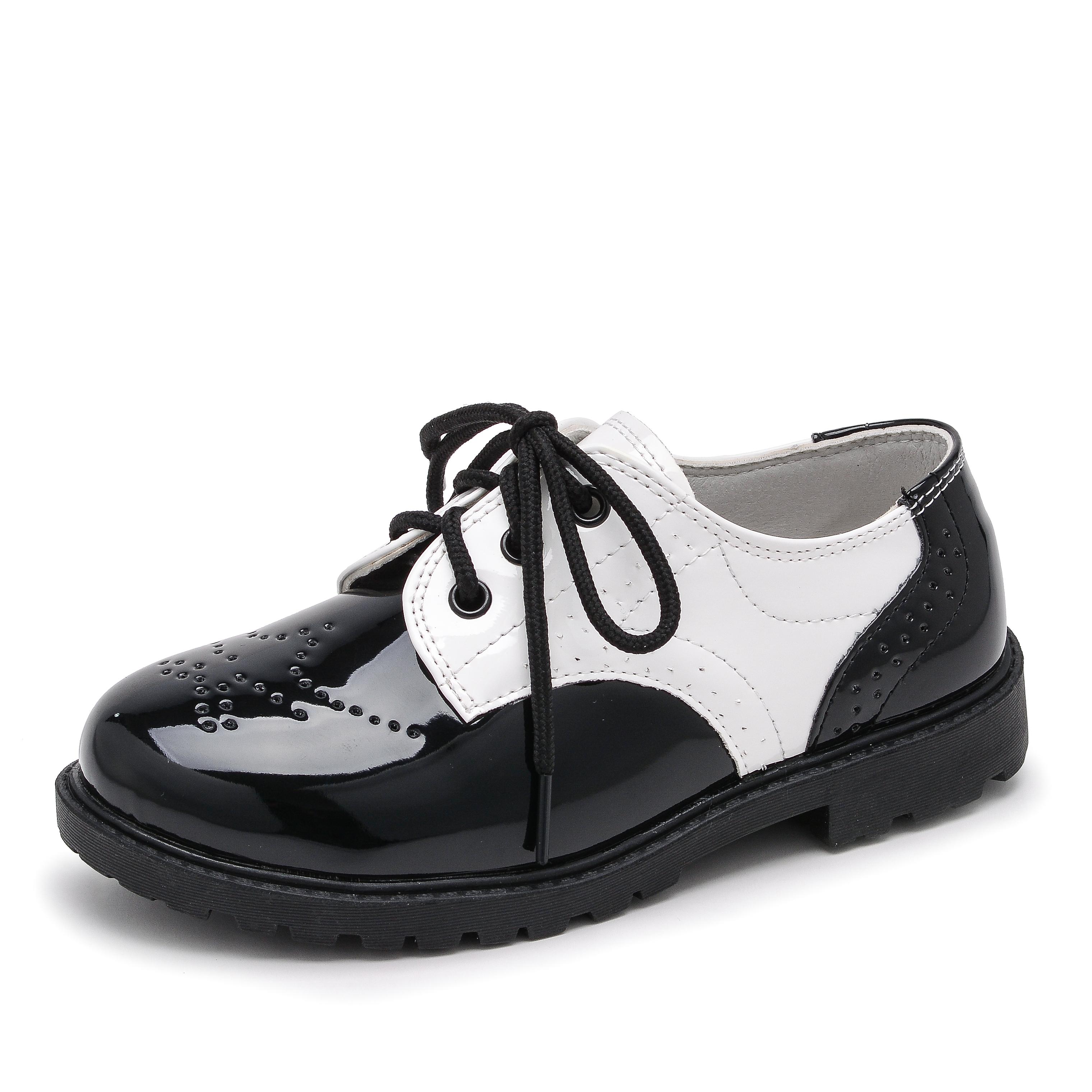 学生小皮鞋男童黑色亮面皮鞋2019春秋新款潮英伦风单鞋演出鞋