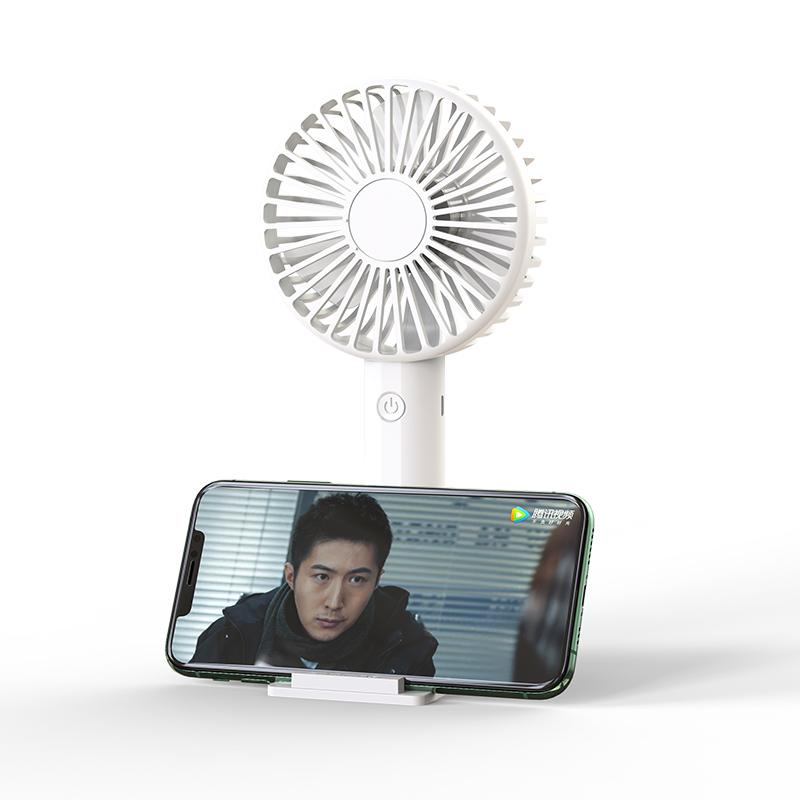 USB手持小风扇迷你可充电学生小型随身便携式制冷神器办公室桌上宿舍超静音床上手拿大风力车载散热台式家用
