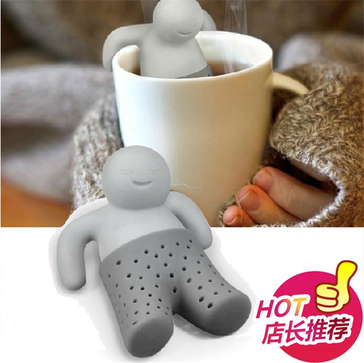 爆款Mr.Tea 茶先生泡茶器泡澡小人矽膠茶包濾茶器創意茶具濾茶網
