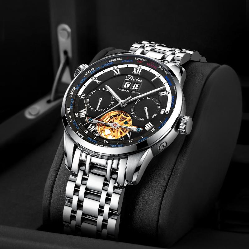 新款镂空手表男士国产腕表全自动机械表飞轮概念潮流运动男表 2019