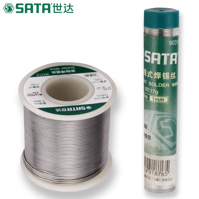 世达工具卷轴焊锡丝便捷焊锡丝电烙铁专用高纯度铅锡90315-90311