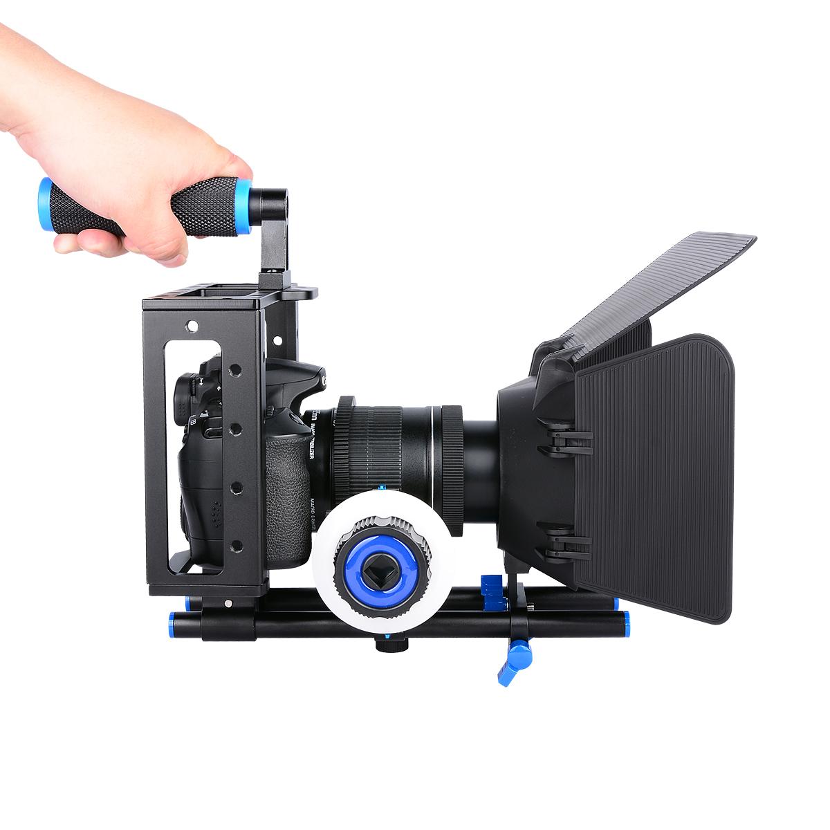 狼王单反摄像套件相机5d4/3/2 GH5S 70/80d A7M3兔笼跟焦器遮光斗
