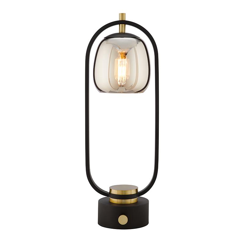 设计师玻璃装饰美式台灯 ins 北欧卧室台灯床头灯创意后现代 登对