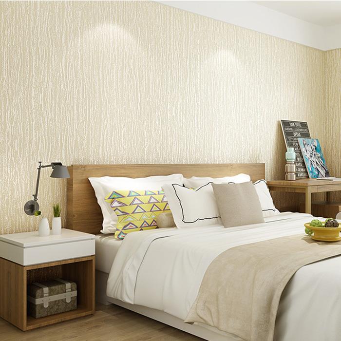 立体无纺布墙纸客厅现代简约卧室纯色家装背景墙 3D 竖条纹壁纸素色