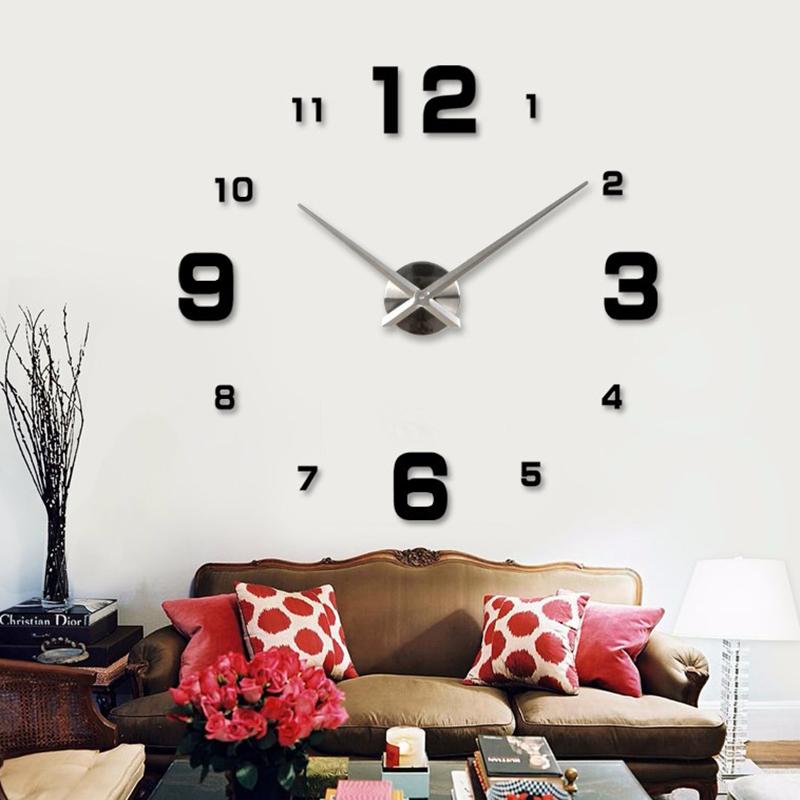 現代簡約DIY牆貼鐘錶3D時尚創意客廳掛鐘 電視背景牆貼網紅掛鐘