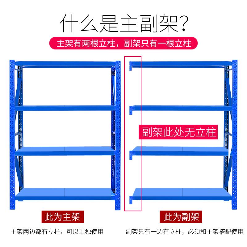 货架仓储轻型中型仓库储物架库房多层家用置物架展示架铁架子货架