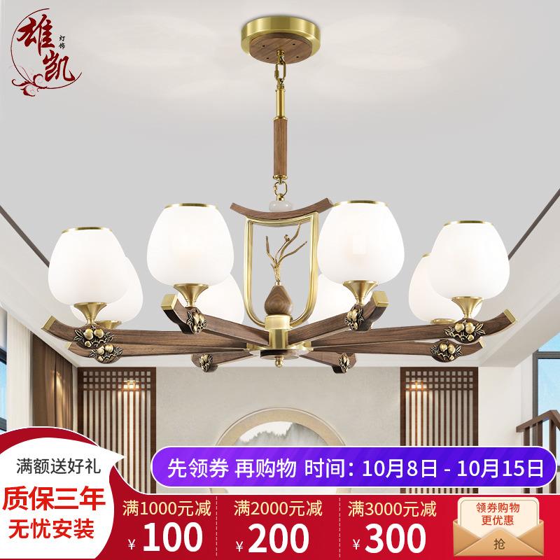 现代餐厅灯复式楼别墅灯中国风