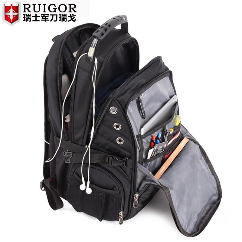 瑞戈瑞士军刀包双肩包男大容量电脑背包商务女旅行包学生书包防水